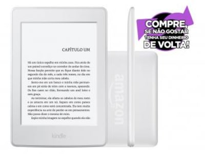 "Kindle Paperwhite Amazon Tela 6"" 4GB Wi-Fi - Luz Embutida Branco"