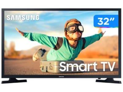"Smart TV LED 32"" Samsung UN32T4300AGXZD - Wi-Fi HDR 2 HDMI 1 USB"