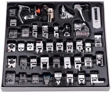 Conjunto de Pés de Calcador para Máquina de Costura com 42 Peças - Honorall