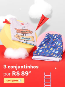3 Conjuntos por R$89 - Moda Infantil