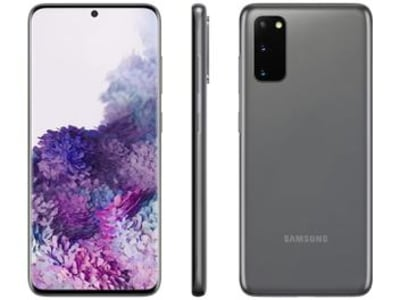 "Smartphone Samsung Galaxy S20 128GB Cosmic Gray - Octa-Core 8GB RAM 6,2"" Câm. Tripla + Selfie 10MP - Magazine Ofertaesperta"