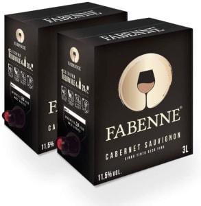 Fabenne Kit 2 Unidades Vinho Tinto Cabernet Sauvignon - Bag-in-Box 3L cada