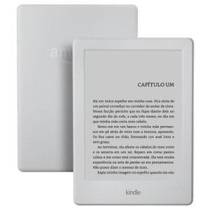 """Kindle Branco com Wi-Fi, 4GB, Tela 6"""" Sensível ao Toque de Alta Definição e Bateria de Longa Duração (8ª Geração)"""