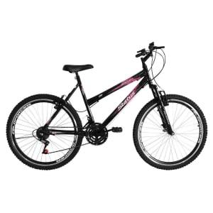 Bicicleta Aro 26 18M Status Belíssima Com Suspensão - Preto