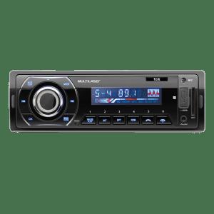 Som Automotivo Talk Multilaser P3214 - Rádio FM Bluetooth Entradas USB SD e Auxiliar