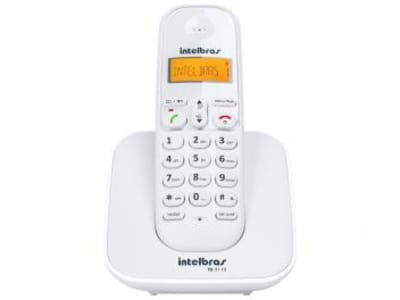 Telefone Sem Fio Intelbras TS 3110 - Identificador de Chamada Conferência Branco - Magazine Ofertaesperta