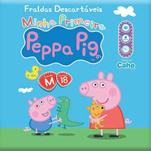 Fralda Prática, Peppa Pig, M, Pacote de 18