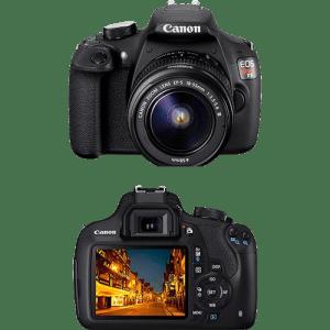 Câmera Digital DSLR Canon EOS Rebel T5 18MP Lente EF-S18-55mm III - Preta