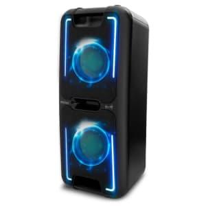 Caixa Acústica Philco Pcx5001n 150wrms Função Flash Light Controle de Eco para Microfone e Bluetooth 5.0
