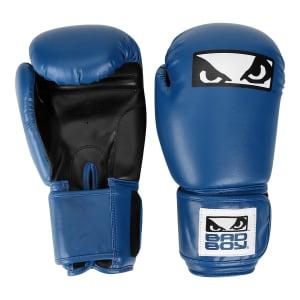 Luva de Boxe/Muay Bad Boy com Logo - Azul e Preto