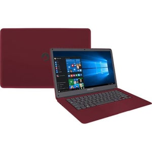 "Notebook Positivo Motion Q232A Intel Atom 2GB 32GB SSD Tela LCD 14"" Windows 10 - Vermelho"