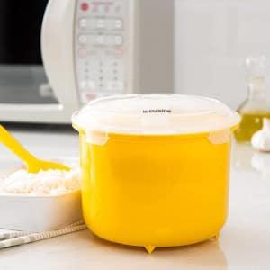 Panela de Arroz para Micro-ondas 2,6L Amarela - La Cuisine