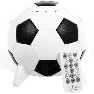 Caixa de Som Portátil Ispeaker Ball com Entrada USB SD Card e Auxiliar P2 23W Bivolt 60Hz Preto/Branco - Ello