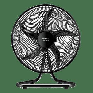Ventilador de Mesa Mondial VM-PRO-55P com 5 Pás e 50 cm Preto 110V
