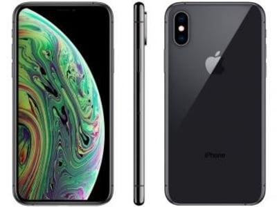 "iPhone XS Apple 256GB Cinza Espacial 4G Tela 5,8"" - Retina Câmera Dupla 12MP + Selfie 7MP iOS 12 - Magazine Ofertaesperta"