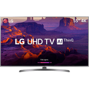 "Smart TV LED 55"" UHD 4K LG 55UK6530 4 HDMI 2 USB Wi-Fi 60Hz"