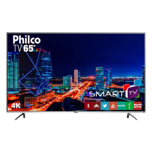 "Smart TV LED 65"" Philco PTV65f60DSWN Ultra HD 4k com Conversor Digital 3 HDMI 2 USB Wi-Fi 60Hz - Preta"