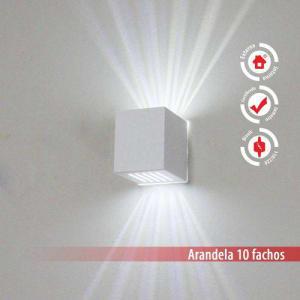 Arandela Frisada Efeito Parede Externa/ Interna 10 Fachos