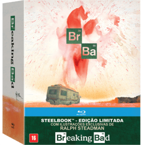 Blu-Ray Breaking Bad - A Coleção Completa - Steelbook - Edição Limitada - 16 Discos