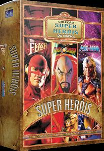Coleção Super - Heróis do Cinema - The Flash, Flash Gordon, He-Man - 3 DVDs (Cód: 8938947)