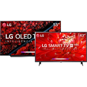 Smart TV Oled 55''' LG OLED55C9 Ultra HD 4K HDR Ativo com Dolby Vision e Dolby Atmos + Smart TV Led 43'' LG 43LM6300 FHD