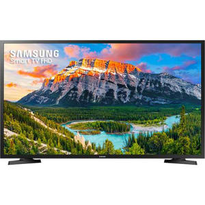 "Smart TV LED 43"" Samsung UN43J5290AGXZD Full HD com Conversor Digital 2 HDMI 1 USB Wi-Fi Screen Mirroring + Web Browser - Preta"