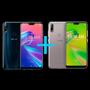 Zenfone Max Pro (M2) 4GB/64GB Black Saphire + Zenfone Max Plus (M2) 3GB/32GBPrata