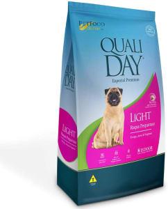 Ração Qualiday Light para Cães Adultos de Raças Pequenas 1kg