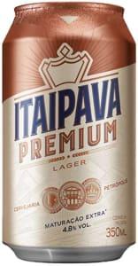 5 Unidades - Cerveja Itaipava Premium Puro Malte Lata 350ml