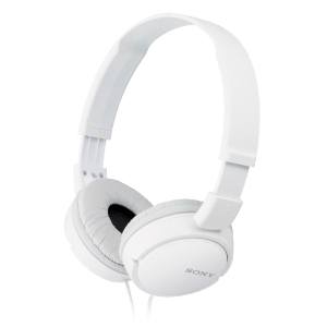 Fone de Ouvido Sony Headphone MDR-ZX110 Branco - Dobravel