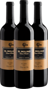 Trio El Molino Malbec 2020 | R$ 32,90 por garrafa