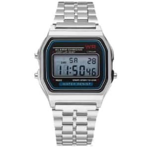 Relógio Wr Digital Aço Vintage Unisex - Prata