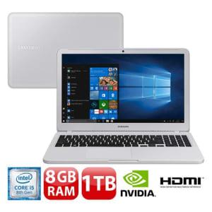 "Notebook Samsung Core i5-8250U 8GB 1TB Placa de Vídeo 2GB Tela 15.6"" Windows 10 Expert X40 NP350XAA-XD2BR"