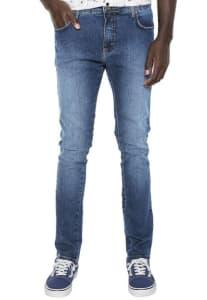 Calça Jeans Coca Cola Super Skinny Happiness Azul-Marinho