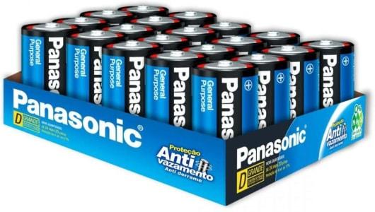 Pilha D UM-1SH300 (Blister c/ 20 pilhas) PANASONIC, Panasonic, UM-1SH300, N/DISP