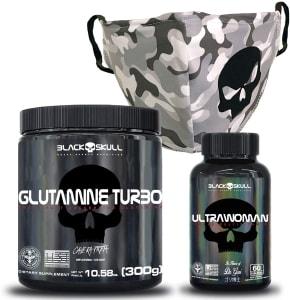 Kit Imunidade C/ Ultrawoman + Glutamina + Máscara Urban