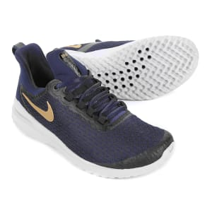 84a0f920465 Tênis Nike Renew Rival Feminino - Azul e Dourado
