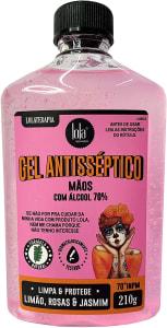 Gel Antisséptico 70% Lola Cosmetics Limão & Rosas 210g