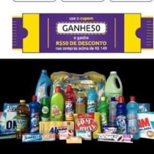 R$ 50,00 Desconto no Mercado do Carrefour Validos para Pedidos Acima de R$ 149,00