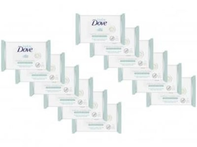 Lenço Umedecido Dove Baby Wipes - 12 Unidades - Magazine Ofertaesperta