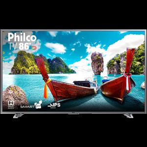 "Smart TV LED 86"" Philco PTV86e30DSWNT Ultra HD 4k com Conversor Digital 3 HDMI 2 USB Wi-Fi 60Hz - Titânio"