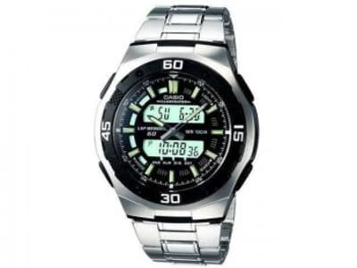 Relógio Masculino Casio Anadigi - Resisitente à Água Cronômetro Mundial AQ-164WD-1AV - Magazine Ofertaesperta