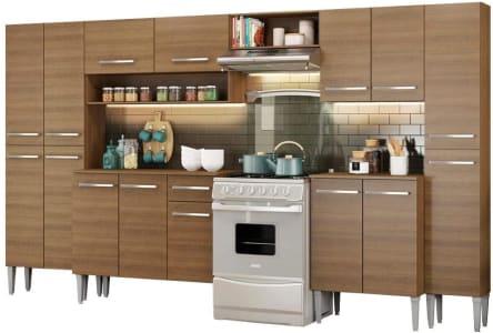 Cozinha Completa Madesa Emilly Joy com Armário e Balcão 15 Portas 1 Gaveta