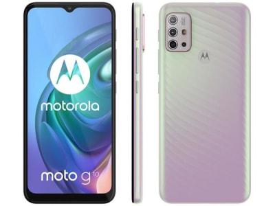 "Smartphone Motorola Moto G10 64GB 4GB RAM 4G Tela 6,5"" - Branco Floral"