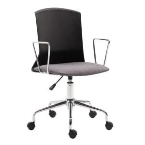 Cadeira de Escritório Secretária Rússia Preta