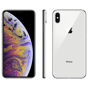 """iPhone XS Max Apple com 256GB, Tela Super Retina HD de 6,5"""", iOS 12, Dupla Câmera Traseira, Resistente à Água e Reconhecimento Facial - Prateado"""