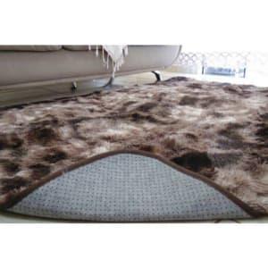 Tapete felpudo para sala 2,00X2,40 marrom mesclado, luxo, peludo, 40mm
