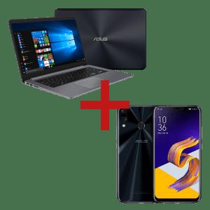 Notebook Optane X510UA-BR1272T Cinza + ZenFone 5Z 4GB/64GB Preto