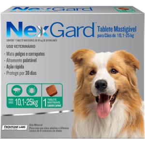 Antipulgas e Carrapatos para Cães Nexgard G de 10,1 a 25kg Tablete Mastigável