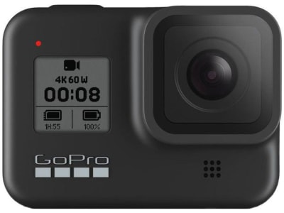 GoPro Hero 8 Black 12MP 4K60 Wi-Fi Bluetooth GPS - à Prova de Água - Magazine Ofertaesperta